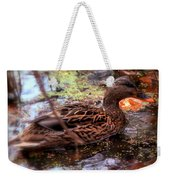 Feathers In Autumn Weekender Tote Bag