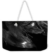 Feathers In Black And White Weekender Tote Bag