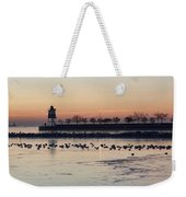 February Navy Pier Chicago Illinois Weekender Tote Bag