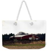 February's Red Barn Weekender Tote Bag