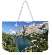 Fedaia Pass With Lake Weekender Tote Bag