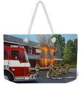 Feed Store Fire Weekender Tote Bag