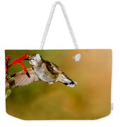 Feeding Anna's Hummingbird Weekender Tote Bag