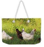 Feeding Chickens Weekender Tote Bag
