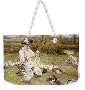 Feeding Ducks Weekender Tote Bag