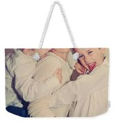 Feel The Joy Weekender Tote Bag by Laurie Search