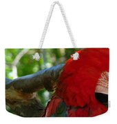 Feeling A Little Red Weekender Tote Bag