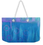 Feeling Blue Abstract Weekender Tote Bag