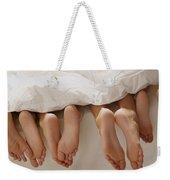 Feet In Bed Weekender Tote Bag