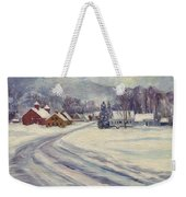 Felchville Village In The Snow Weekender Tote Bag