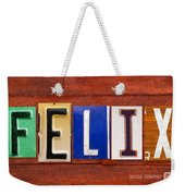 Felix License Plate Name Sign Fun Kid Room Decor Weekender Tote Bag