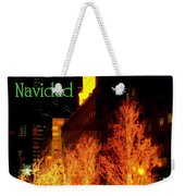 Feliz Navidad - Merry Christmas In New York - Trees And Star Holiday And Christmas Card Weekender Tote Bag