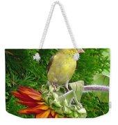 Female American Goldfinch Weekender Tote Bag