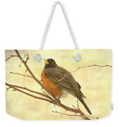 Female American Robin Weekender Tote Bag