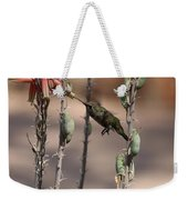 Female Anna's Hummingbird Weekender Tote Bag