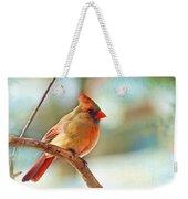 Female Cardinal - Digital Paint IIi Weekender Tote Bag
