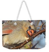 Thorns And Berries - Cardinal Weekender Tote Bag