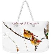 Female Cardinals Card Weekender Tote Bag