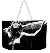 Female Christ Black And White Weekender Tote Bag