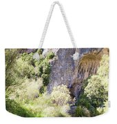 Female Climber, On A Beautiful Route Weekender Tote Bag