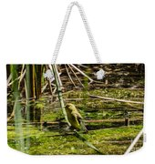 Female Gold Finch Drinking Weekender Tote Bag