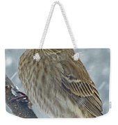 Female House Finch In Snow 1 Weekender Tote Bag