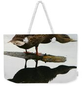 Female Mallard Duck  Weekender Tote Bag