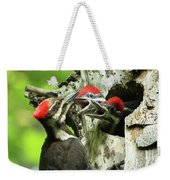 Female Pileated Woodpecker At Nest Weekender Tote Bag