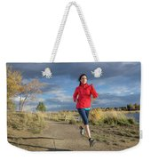 Female Runner In Colorado Weekender Tote Bag