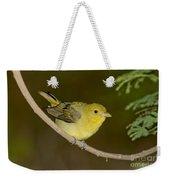 Female Scarlet Tanager Weekender Tote Bag