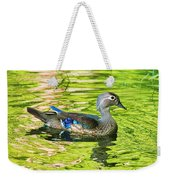 Female Wood Duck Weekender Tote Bag
