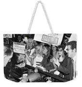 Feminists Protest  Brown's Bar Weekender Tote Bag