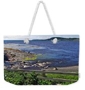 Fence Along Rocky Harbour-nl Weekender Tote Bag