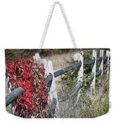 Fence And Creeper Weekender Tote Bag