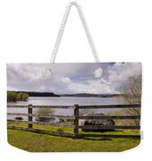 Fence At Kielder Water Weekender Tote Bag