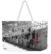 Fence At The Oklahoma City Bombing Memorial Weekender Tote Bag