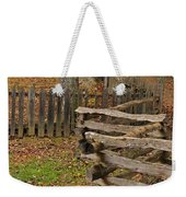 Fence In Autumn Weekender Tote Bag