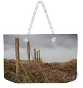 Fence In The Storm In Norway Weekender Tote Bag