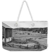 Fence Line Monochrome Weekender Tote Bag