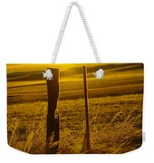Fence Post In The Morning Light Weekender Tote Bag