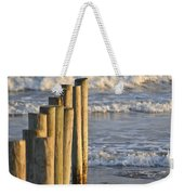 Fence Posts Into The Sea Weekender Tote Bag
