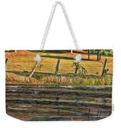 Fence Reflection Weekender Tote Bag