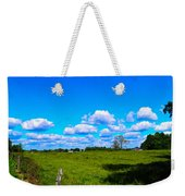 Fence Row And Clouds Weekender Tote Bag