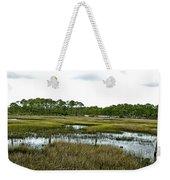 Fence Thru The Marsh Weekender Tote Bag