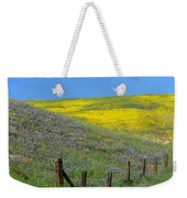 Fenced In Flowers Weekender Tote Bag