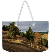 Fenced In Warm Autumn Light Weekender Tote Bag