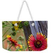 Fenceline Wildflowers Weekender Tote Bag