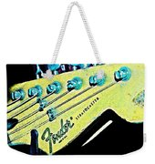 Fender Head In Watercolor Photo Weekender Tote Bag