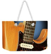 Fender Stratocaster Electric Guitar Natural Weekender Tote Bag
