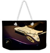 Fender Stratocaster In Blue Weekender Tote Bag